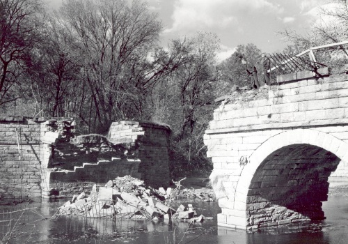 Catoctin Aqueduct after collapse