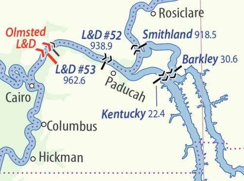 Waterway map, Cairo, IL