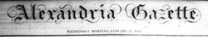Alexandria Gazette masthead
