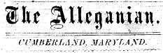 Alleganian masthead (Source: Western Maryland Regional Library)