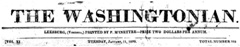 Washingtonian masthead (Source: Virginia Newspaper Project)