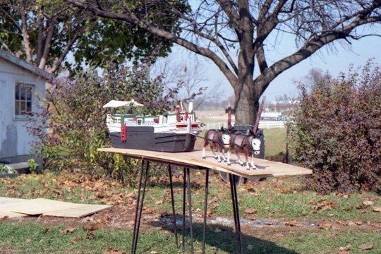 Canal boat model