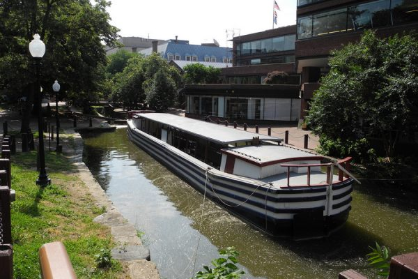 Now retired canal boat in Georgetown