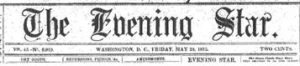 Washington Evening Star masthead